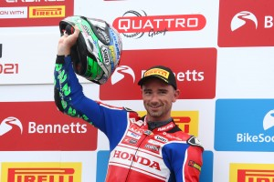 Double podium delight for Honda Racing UK at Thruxton